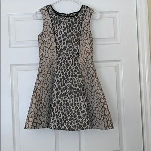 Other - Girls Gold And Black Leopard Print Dress